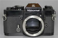 Nikon Black Nikkormat EL film camera body (use non-Ai Nikkor lens) - Ex+!
