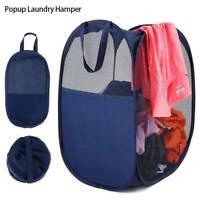 Pop Up Laundry Bag Mesh Washing Foldable Laundry Basket Bin Storage Hamper