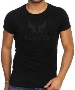 Goldkind Herren T-Shirt LOGO schwarz round rundhals