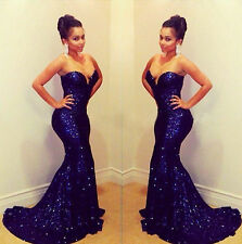 2018 Mermaid Celebrity Prom Dresses Sequins Strapless Formal Evening Party Gown