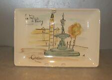 NEW Rectangular Platter La Fontaine de Tourny  from Québec Hand Painted