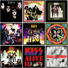 KISS 9 pack album cover discography magnet lot - (ac/dc, metallica, iron maiden)