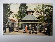 AVIARY CANNON HILL PARK BIRMINGHAM COLOUR PRINTED POSTCARD DOUBLE PMRK 1907 686L