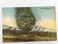 Vintage Postcard 1931 Mt. Lassen in Eruption CA California Pacific Novelty 1C