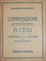 BENIAMINO CESI METODO STUDIO PIANOFORTE PIANO BACH PICCOLI PRELUDI FUGHETTE 1932