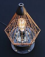 Lamp Sculpture, Engaging, Industrial, Machine Age, Steampunk, Upcycled, Original