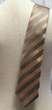 Landisun of Hi Malaya Men's Tie Coral Herringbone Diagonal Striped Classic Black