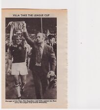 Team Pic from 1975-76 FOOTBALL Annual - MANSFIELD TOWN + Saunders ASTON VILLA