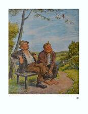 Otto Quante Poster Kunstdruck Bild Die Sorglosen 60x50cm Kostenloser Versand