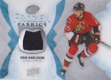 16-17 UD Ice Erik Karlsson Jersey Frozen Fabrics Senators 2016