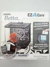 Marina Betta Fish Aquarium Kit: Small   2.5L   Black (PET50)