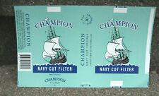 Vintage Champion Cigarette Tobacco Packaging Label