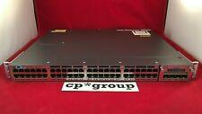 Cisco WS-C3750X-48P-L 48-Port PoE+ GbE Switch w/ C3KX-NM-1G 715WAC 15 iOS 1 year