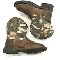 Womens ARIAT FATBABY Cowboy Western Boots Brow Pink Camo Leather Size 7 B