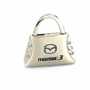 Mazda 3 Purse Shape Keychain (Chrome)