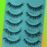 5 Pairs Makeup Handmade Long Thick Cross False Eye Lashes TOPSALE Eyelashes