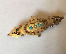 Turquoise Yellow Gold Edwardian Fine Jewellery