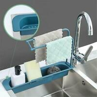 Kitchen Sink Faucet Sponge Soap Basket Cloth Drain Rack Storage Holder Shelf
