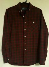 Topman Shirt | Size XS | Red Green Check Tartan Long Sleeve | 100% Cotton BNWT