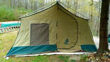 Vintage Hillary Camping Tent Canvas 13 x 10 Peaked 70s Sears w Box