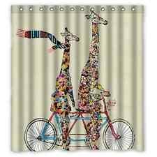 Custom Brand New Giraffe Waterproof Bathroom Shower Curtain 66 x 72 Inch