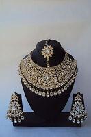 Indian Ethnic Bollywood Gold Tone Wedding Fashion Bridal Jewelry Necklace Set