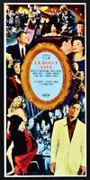 Cartel El Dulce Vida Federico Fellini Anita Ekberg Mastroianni Marcello N44