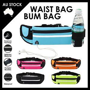 Running Bum Bag Fanny Pack Travel Waist Bags Money Zip Belt Pouch Sports Wallet