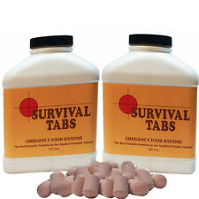 Chocolate 30 day Supply-Survival Tabs Emergency Food Rations Nutrition in Volume