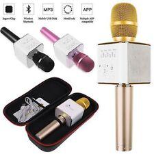 Q9 Wireless Bluetooth Karaoke Mic Geek Microphone USB Speaker Mini For Home KTV