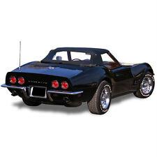Chevrolet Corvette 1968-1975 Convertible Soft Top Black Stayfast Canvas Cloth