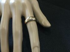9K Yellow Gold  Wide Ring , 3.9grams,Vintage