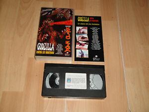 GODZILLA CONTRA LOS MONSTRUOS EN VHS + DOSSIER COLECCION KAIJU EIGA  NUEVA