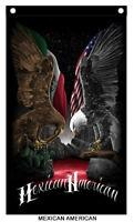 David Gonzales Art Chicano Mexicano Lowrider Mexican American Eagle Banner Aztec