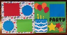 Party Time scrapbook pages
