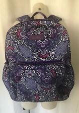 VERA BRADLEY Lilac Tapestry Lighten Up Essentials Large Backpack Trolley Sleeve