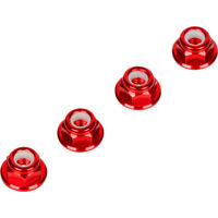 Red 4MM Wheel Nuts (Set of 4) for Traxxas Arrma Axial Racing HPI TLR ECX