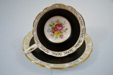 Royal Stafford Pattern 8226 Foooted Cup & Saucer Set England Bone China