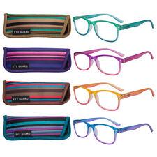 EYEGUARD 4 Pack Colorful Gradient Reading Glasses for Women Spring Hinge Readers