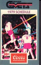 1979 Denver Comets Volleyball Schedule jhxb
