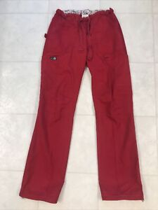 Koi Lindsey Cargo Scrub Pants Red XS Tall