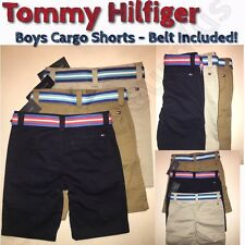 NEW Tommy Hilfiger Boys Cargo Shorts with Belt - VARIETY of Sizes and Colors