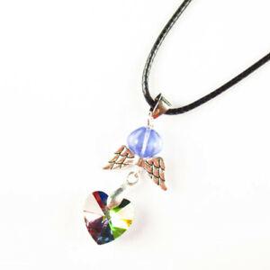 """Multicolor Titanium crystal Tibetan silver Wing Adjustable Necklace 17.5"""" F35717"""