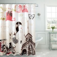 "Le Paris Fancy Fabric Shower Curtain 70""x""72 Made With 100% Polyester."