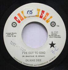 Country 45 Duane Dee - I'Ve Got To Sing / There Will Be An Answer On Cartwheel