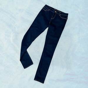 Women's LEE RIDERS size 11 Bumster Super Skinny blue denim cotton stretch as new