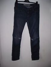 Topshop Baxter Distressed Jeans Ripped knees size 12