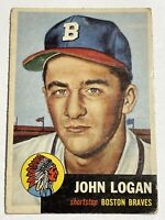 1953 Topps #158 Johnny Logan - Boston Braves RC