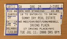 2000 SUNNY DAY REAL ESTATE NEW YORK CITY CONCERT TICKET STUB THE RISING TIDE