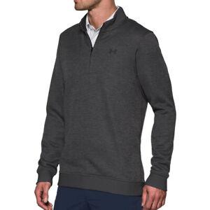 Under Armour UA ColdGear Storm Mens Fleece Sweater Dark Grey 1/4 Zip Top L